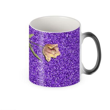 Floral Shut Heat Changing Mug