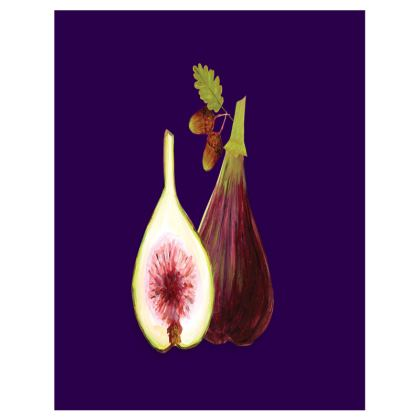 Purple Figs Tray by Lucinda Kidney