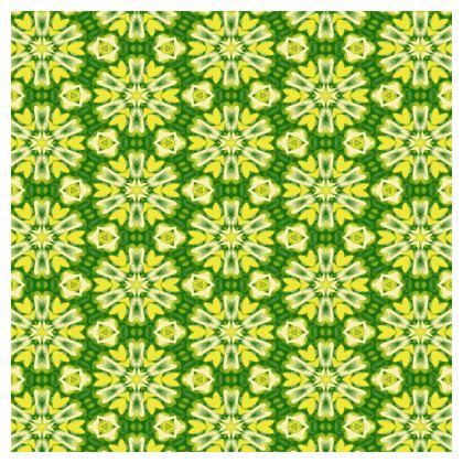 Yellow, Green Cushions   Geometric Florals   Sunlight