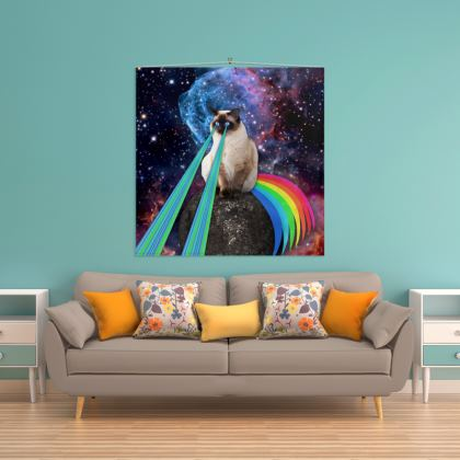Siamese Laser Cat Wall Hanging
