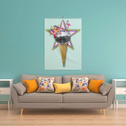 Disco Ice Cream Wall Hanging