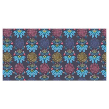 Blue Floral Craft Roller Blinds