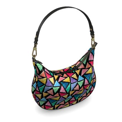 Curve Hobo Bag - Triangles
