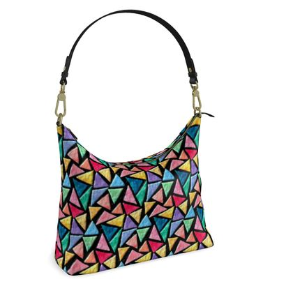 Square Hobo Bag -  Triangles