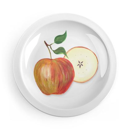 Harvest Apples and Pears Party Plates by Lucinda Kidney