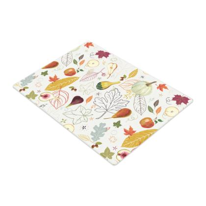 Harvest Vegetables Glass Chopping Board by Lucinda Kidney