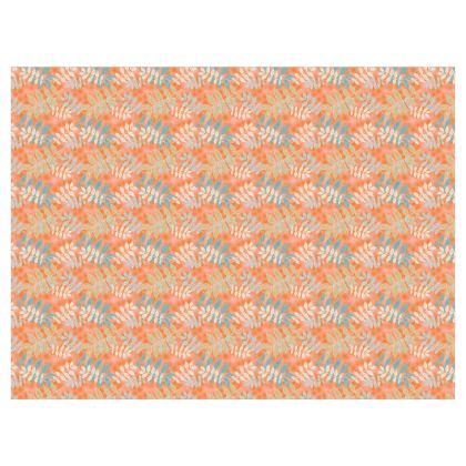 Orange Curtains [D183 W137 single panel format]  Etched Leaves   Sahara