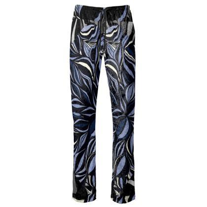 Pantaloni linea mare con stampa artistica