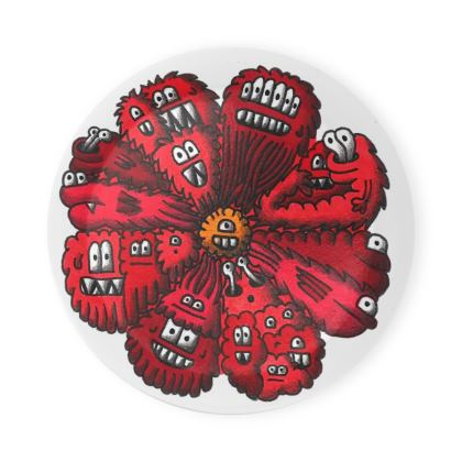Pack of 6 Coasters with Crazy Creatures