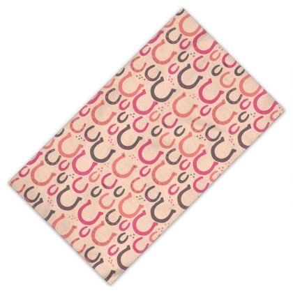 Lucky Horseshoes Towel (rose pink)