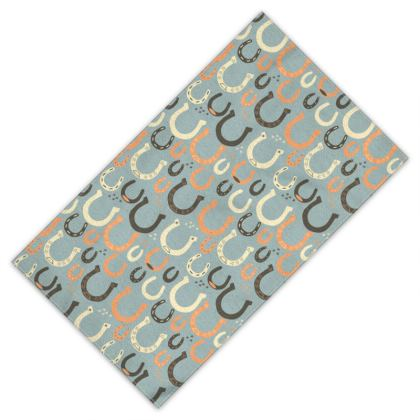 Lucky Horseshoes Towel (Harbor Mist Grey)