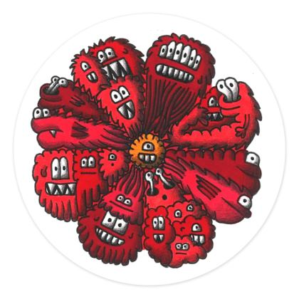 Set of 15 Crazy Creature Stickers