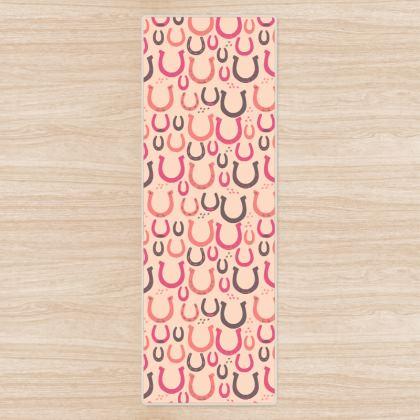 Lucky Horseshoes Yoga Mat (Rose Pink)