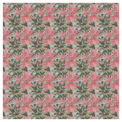 Pink, Green Curtains 228 cm x 228 cm Single Panel Format  Lily Garden  Schubert