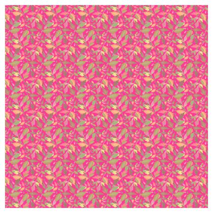 Pink Curtains 288 cm x 228 cm Single Panel Format  Cathedral Leaves  Peony