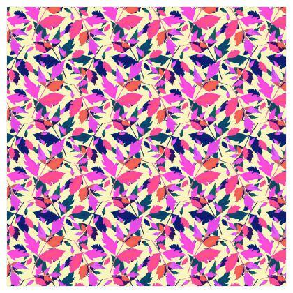 Pink, Mauve Curtains 228 cm x 228 cm Single Panel Format.  Diamond Leaves  Sunset