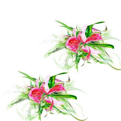 Kimono - Pastells pink White