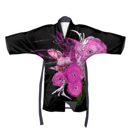 Kimono - Pink summer fantasy Black
