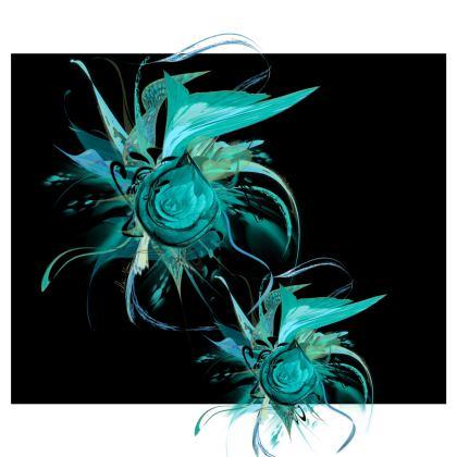Kimono - Turquoise on Black