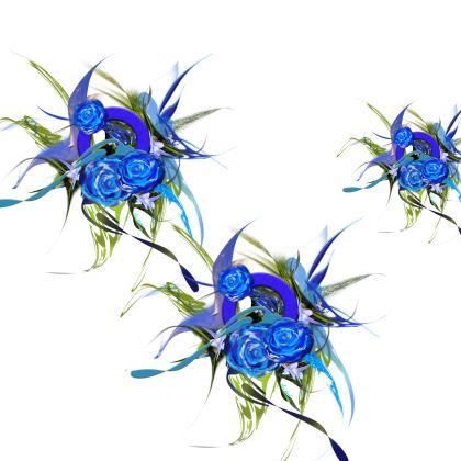 Kimono - Blue Flower White