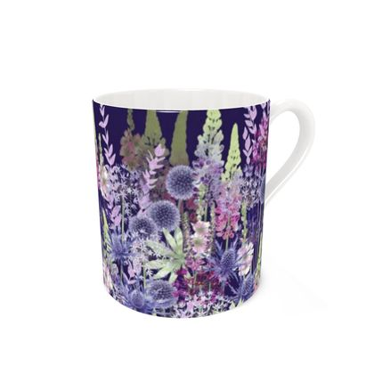 Bone China Mug - Midnight Flower Dance