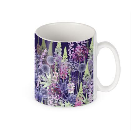 Ceramic Mug - Midnight Flower Dance