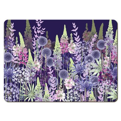 Large Placemats - Midnight Flower Dance