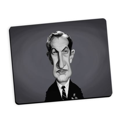 Vincent Price Celebrity Caricature Mouse Mat