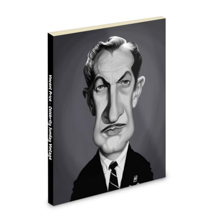 Vincent Price Celebrity Caricature Pocket Note Book