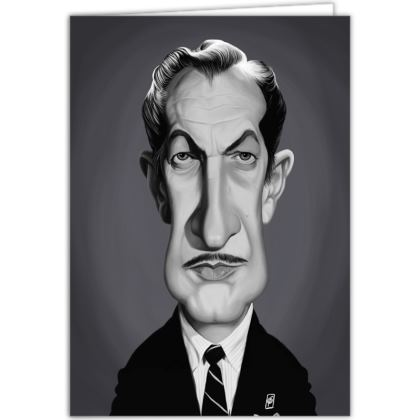 Vincent Price Celebrity Caricature Occasions Cards