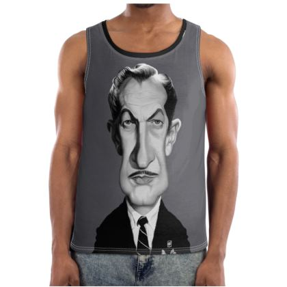 Vincent Price Celebrity Caricature Cut and Sew Vest