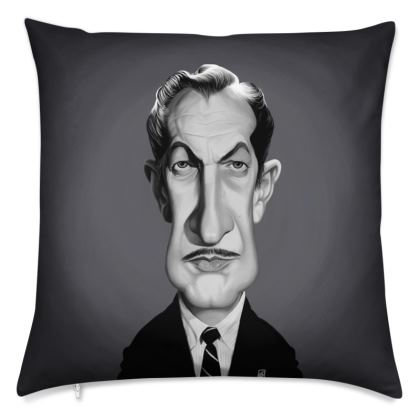 Vincent Price Celebrity Caricature Cushion