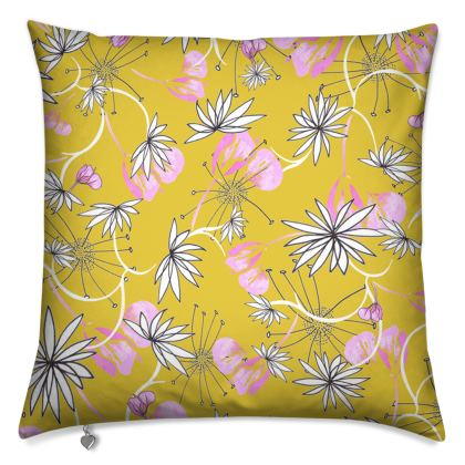 Luxury Cushion: Yellows and Pinks