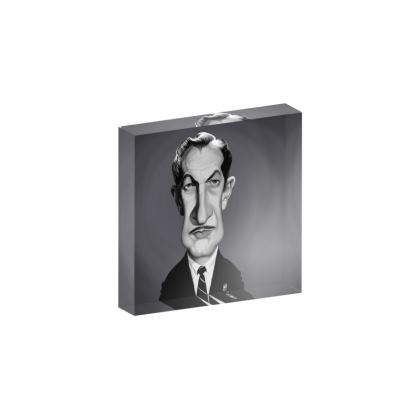 Vincent Price Celebrity Caricature Acrylic Photo Blocks