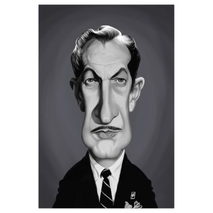 Vincent Price Celebrity Caricature Art Print