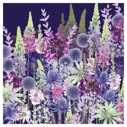 Midnight Flower Dance Luxury Cushion