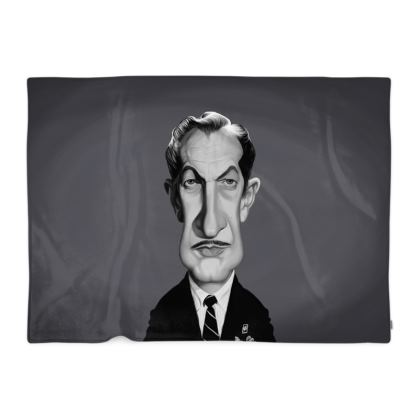 Vincent Price Celebrity Caricature Blanket