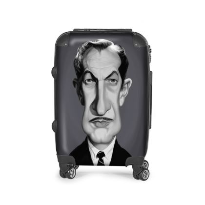 Vincent Price Celebrity Caricature Suitcase