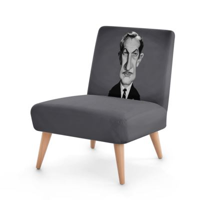 Vincent Price Celebrity Caricature Occasional Chair