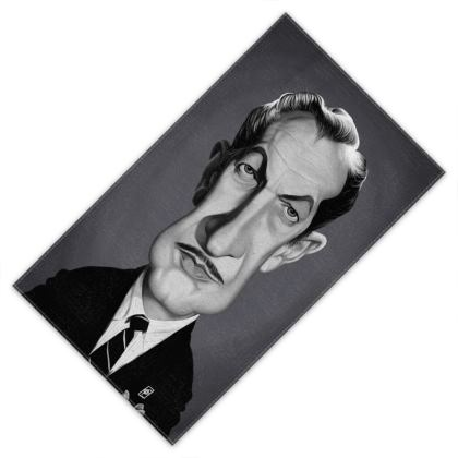 Vincent Price Celebrity Caricature Towels