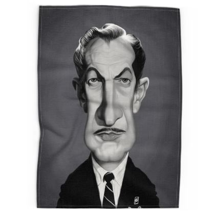 Vincent Price Celebrity Caricature Tea Towels