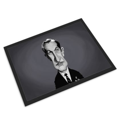 Vincent Price Celebrity Caricature Door Mat