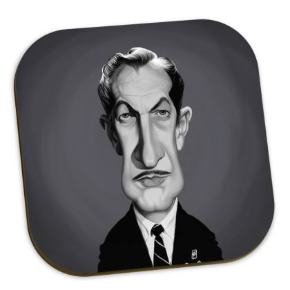 Vincent Price Celebrity Caricature Coasters