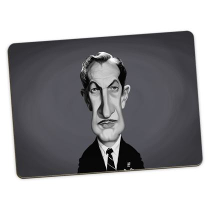 Vincent Price Celebrity Caricature Large Placemats