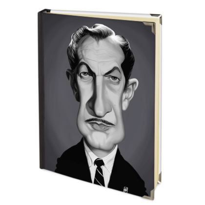 Vincent Price Celebrity Caricature 2018 Deluxe Diary