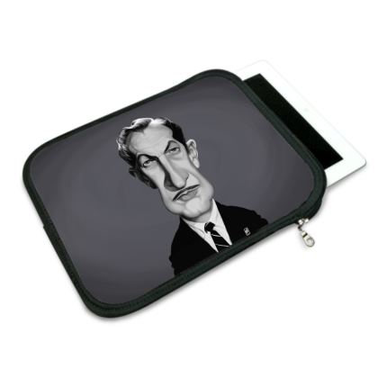 Vincent Price Celebrity Caricature iPad Slip Case