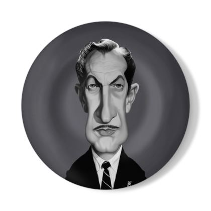 Vincent Price Celebrity Caricature Decorative Plate