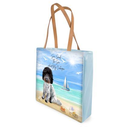 'BLUE ROAN COCKAPOO BEACH BAG