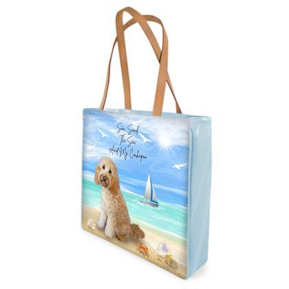 CREAM COCKAPOO BEACH BAG