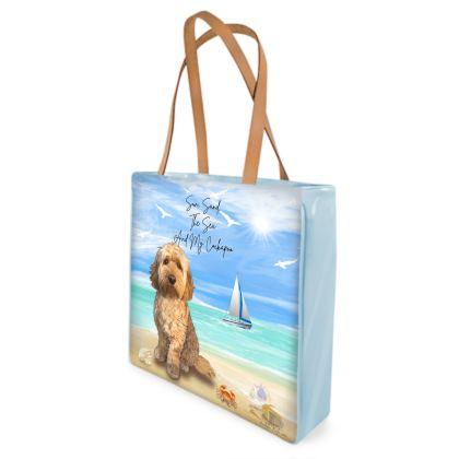 APRICOT COCKAPOO BEACH BAG